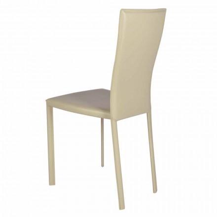 Moderne designsstol i læder / læder lavet i Italien Ghada
