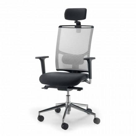 Operativ og semi-executive stol i stof produceret i Italien Mina