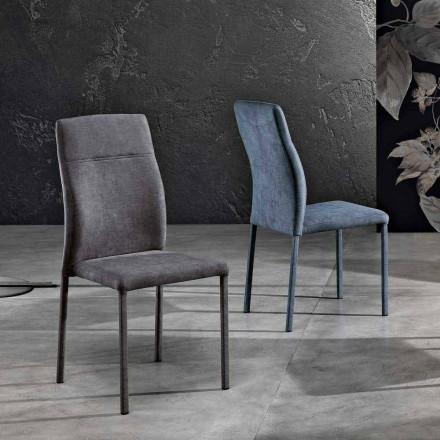 Design stol i stof til spisestue lavet i Italien, Luigina