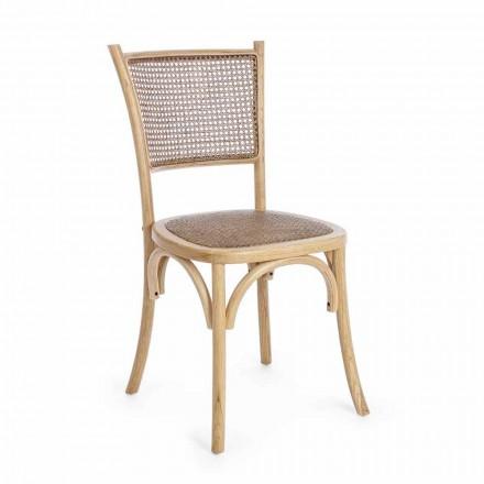 Spisestuestol i rotting og træ Klassisk Design Homemotion - Meridia