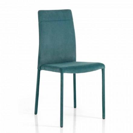 Moderne stol i stof til spisestue lavet i Italien, Porzia