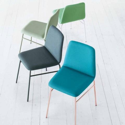 Ædelstolsstol med metalbase Fremstillet i Italien, 2 stykker - Molde
