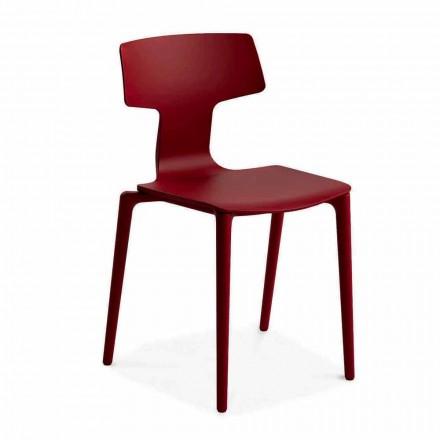 Udendørs stabelbare polypropylenstole fremstillet i Italien, 4 stykker - Claribel