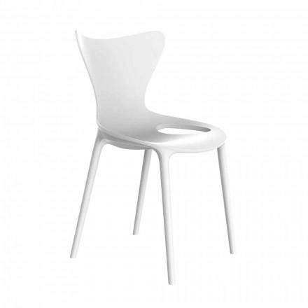 Stabelbare design havestole i polypropylen 4 stykker - kærlighed af Vondom