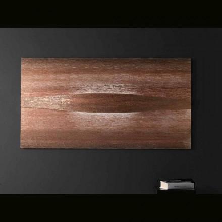 Selene Kunst & Light Sconce med teksturerede paneler 140xH75 cm