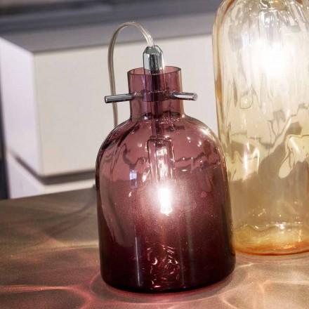 Selene Bossa Nova bordlampe Ø11 H16cm, blæst glas ametyst