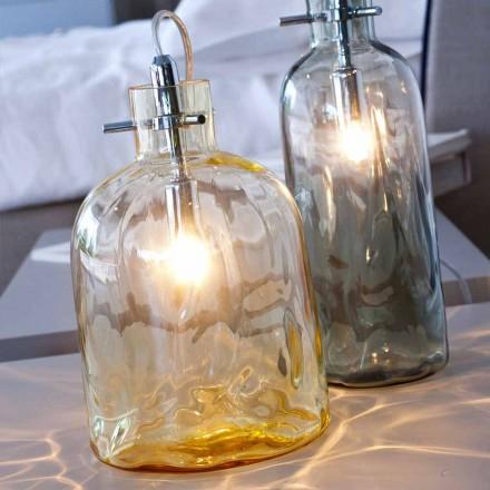 Selene Bossa Nova bordlampe Ø15 H 21cm i rav blæst glas