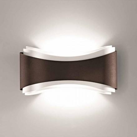 Selene Ionica væglampe fremstillet i Italien, 40x12H20cm, stål og glas