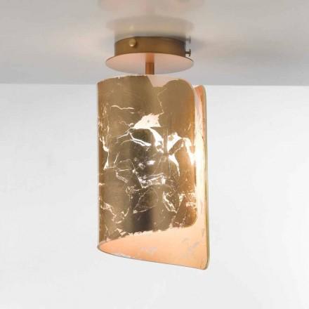 Selene Papiro loftslampe krystal Ø15 H30cm, lavet i Italien