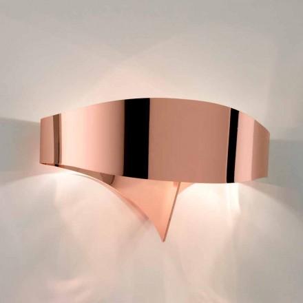 Selene væglampe Shield galvanisk moderne design, fremstillet i Italien