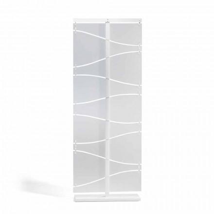 Booth moderne design i hvid satin methacrylat Mara