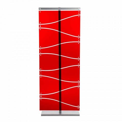 Booth moderne design i rød methacrylat eller satin Evelyn