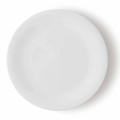 24 elegante middagsplader i hvidt porcelænsdesign - Doriana