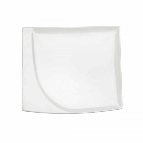 Aperitif Service 12 Stykker Moderne hvide porcelæns designplader - Nalah
