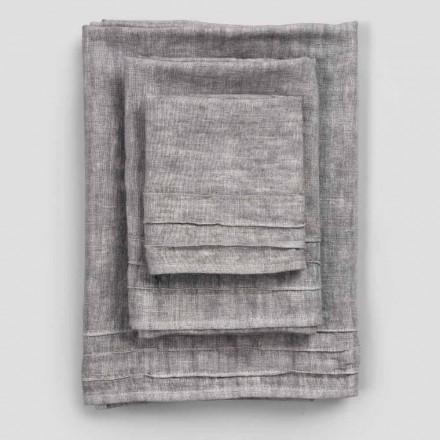 3-delt linned ansigt, gæst håndklæde og håndklæde service - Nuori
