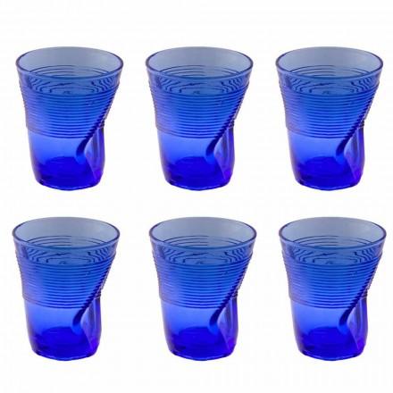Farvede glas vandbriller Service 12 stykker Specielt design - Sarabi