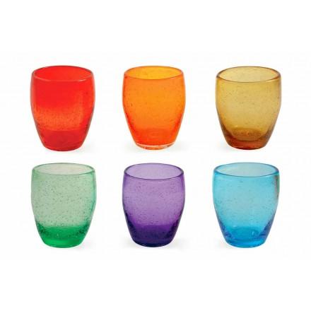 Vandglasservice i farvet og moderne glas 12 stykker - Guerrero