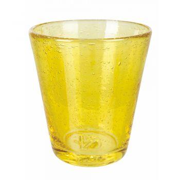 12 stykker farvet blåset glas vandglas service - Yucatan