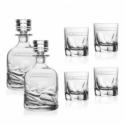 Økologisk Crystal Whisky Service med personaliseret logo - Titanium