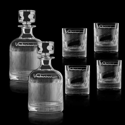 Økologisk Crystal Whisky-service, der kan tilpasses med logo, 6 stykker - taktil