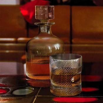 6-delt luksusdesign økologisk krystal whiskysæt - taktil