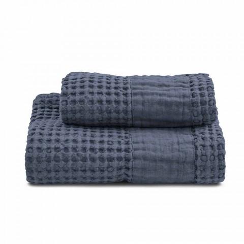 Badehåndklæder i farvet honningkage bomuld og linned - Turis