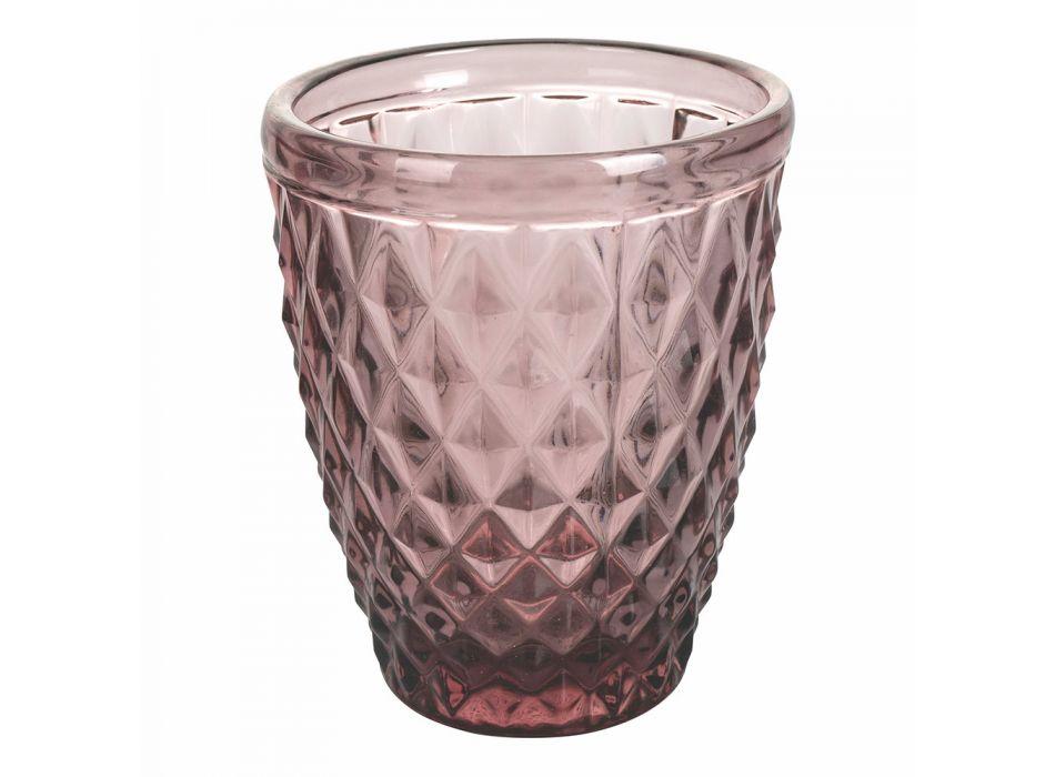 12 stykker Farvet glas Vandbriller Service - Artemisia