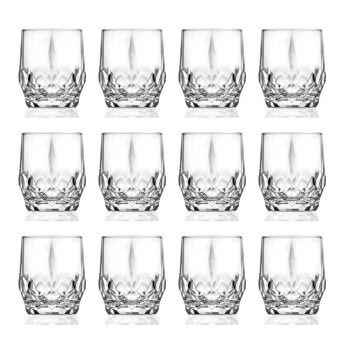 12 dele Ecological Crystal Whisky Glasses Service - Bromeo