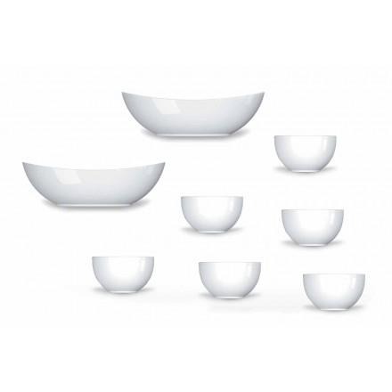 Cup Service Modern Design Porcelænsskåle 8 stykker - Teleskop