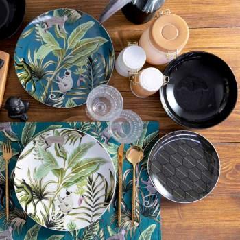 18 stykke moderne service i farvet porcelæn og stentøjsservice - Antananarivo
