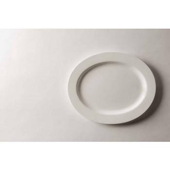 4-delt serveringsplader i hvidt designer porcelæn - Samantha
