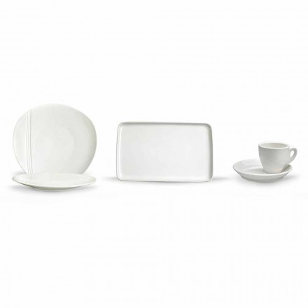 Moderne porcelæns aperitifffat sæt 36 stykker - Nalah