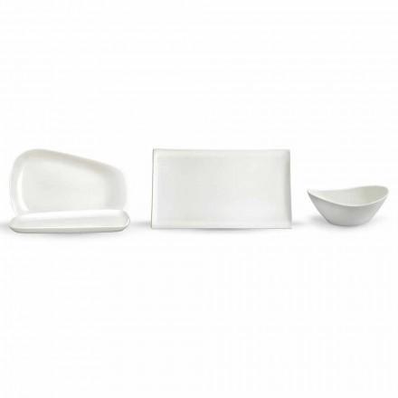 Serveringsplader til frokost eller moderne porcelæn 14 stykker - Nalah