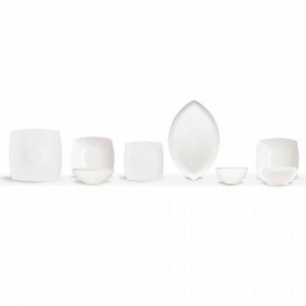 Hvide middagsplader Servicetorg og moderne design 26 stykker - Usima