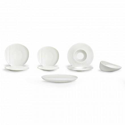 Moderne porcelæns middagssæt sæt 26 stykker - Nalah