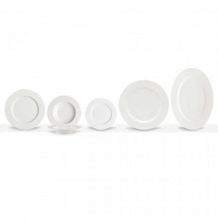 Elegant og moderne porcelænsmiddelpladsæt 20 stk. - Arendelle
