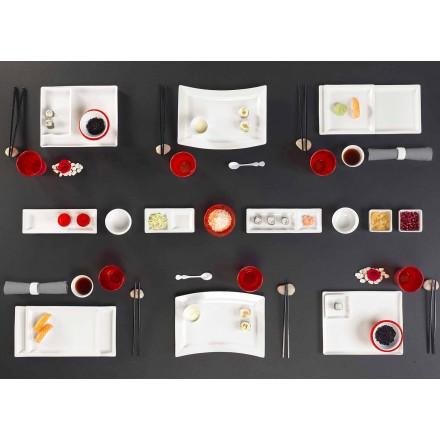 Retter sæt moderne design rektangulært porcelæn 25 Stykker - Melbourne