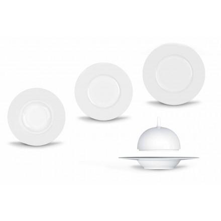 Moderne og elegant middagsmiddagssæt i porcelæn 24 stykker - teleskop