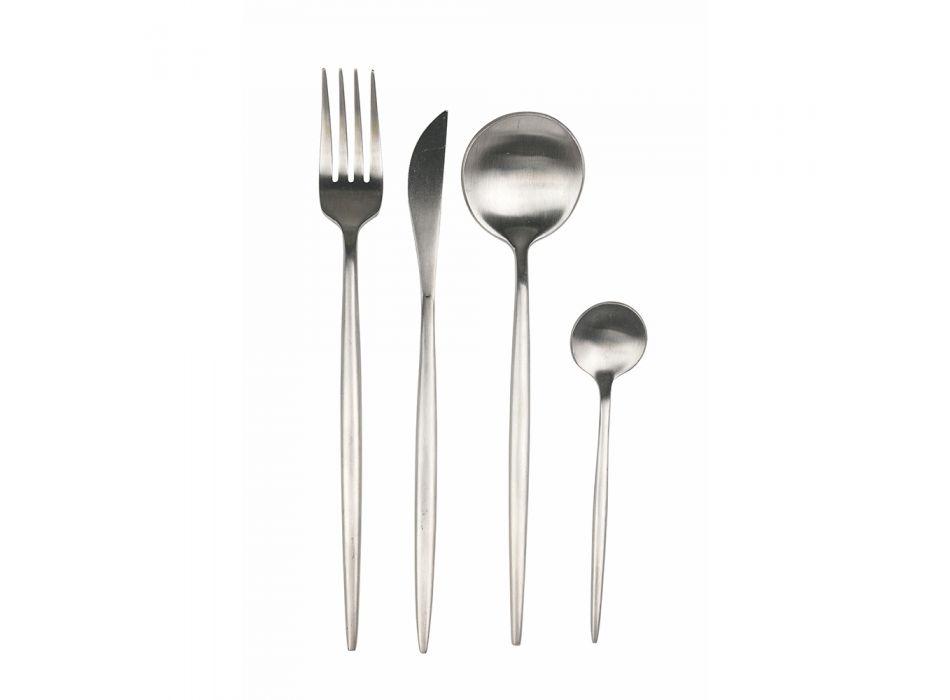 24 dele bestiksæt i matsort, guld eller sølv - Patinero