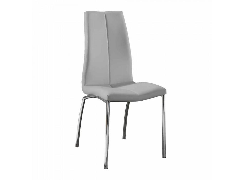 4. september stole moderne design imiteret læder og krom metal Alba