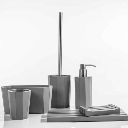 Rivello harpiks badeværelse tilbehør indstillet i moderne harpiks