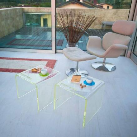 Sæt af 2 moderne design sengeborde i Methacrylate fremstillet i Italien - Leielui