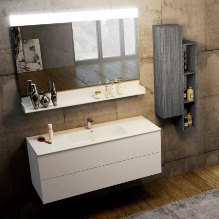 Sammensætning af moderne ophængte badeværelsesmøbler lavet i Italien, Bari