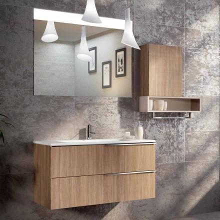 Suspended badeværelse design sammensætning i ecolegno gjort Italien, Cesena