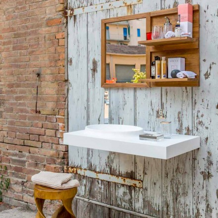 Brusson solide overflade badeværelsesmøbler sæt af moderne design