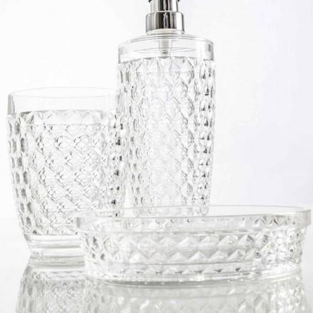 Sæt til bad dispenser + glas + moderne sæbe skål Netro