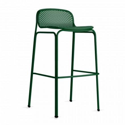 Høj stabelbar udendørs barstole i metal, 2 stk. - Viviette