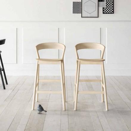 Høj køkkenstol med askestruktur lavet i Italien - Oslo