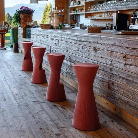 Høj havestol i farvet polyethylen Fremstillet i Italien - Desmond