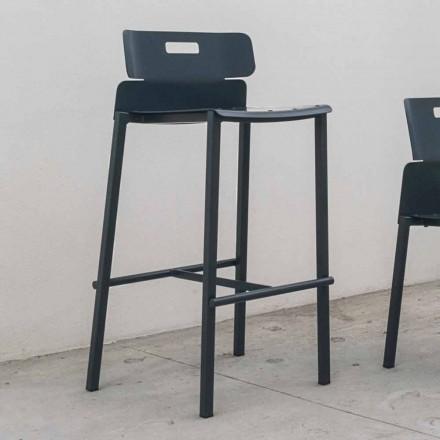 Højdesign skammel til udendørs i aluminium fremstillet i Italien - Dobla